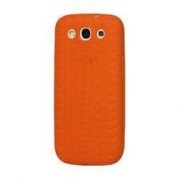 Silikonové PNEU pozdro pro Samsung Galaxy S3 i9300 - oranžové