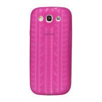Silikonové PNEU pozdro pro Samsung Galaxy S3 i9300 - růžové