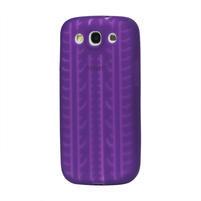 Silikonové PNEU pozdro pro Samsung Galaxy S3 i9300 - fialové