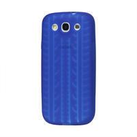 Silikonové PNEU pozdro pro Samsung Galaxy S3 i9300 - modrá