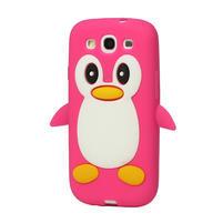 Silikonový TUČŇÁK pro Samsung Galaxy S3 i9300 - růžový