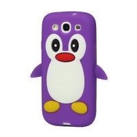 Silikonový TUČŇÁK pro Samsung Galaxy S3 i9300 - fialový