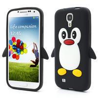 Silikonový Tučňák pouzdro pro Samsung Galaxy S4 i9500- černý
