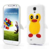 Silikonový Tučňák pouzdro pro Samsung Galaxy S4 i9500- bílý