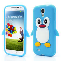 Silikonový Tučňák pouzdro pro Samsung Galaxy S4 i9500- světle-modrý