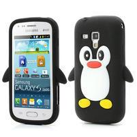 Silikonový Tučňák pouzdro na Samsung Galaxy Trend, Duos- černý