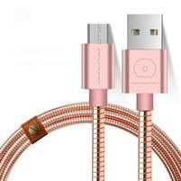 Luxusní kovový micro USB kabel pro nabíjení a synchronizaci - zlatorůžový