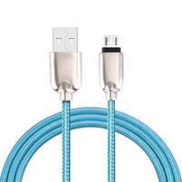 GT7 tkaný kabel micro USB pro synchronizaci a nabíjení / 1m - modrý