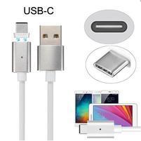 Magnetický propojovací a nabíjecí kabel USB Typ-C - 1m - bílý