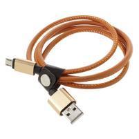 Rich koženkou potažený micro USB kabel pro rychlé dobíjení a synchronizaci 1 m -