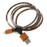 Rich koženkou potažený micro USB kabel pro rychlé dobíjení a synchronizaci 1 m - styl III