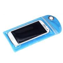 Nepromokavý a odolný obal na mobil do rozměrů 150 x 95 mm - modrý