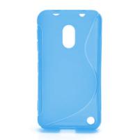 Gelové S-line pouzdro na Nokia Lumia 620- modré