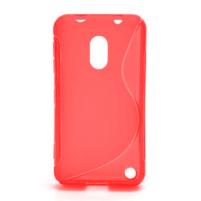 Gelové S-line pouzdro na Nokia Lumia 620- červené