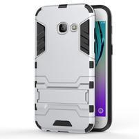 Armory odolný obal na Samsung Galaxy A3 (2017) SM-A320 - stříbrný