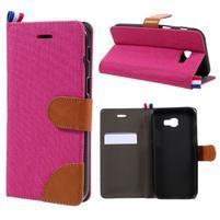 Denim textilní/koženkové pouzdro na Samsung Galaxy A5 (2017) SM-A520 - rose
