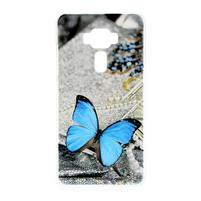 Plastový obal na mobil Asus Zenfone 3 ZE520KL - modrý motýl