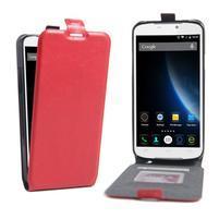 GT flipové PU kožené pouzdro na mobil Doogee X6 - červené