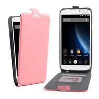 GT flipové PU kožené pouzdro na mobil Doogee X6 - růžové