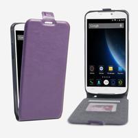 GT flipové PU kožené pouzdro na mobil Doogee X6 - fialové