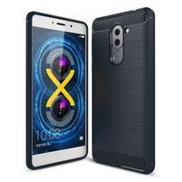 Odolný gelový obal s výstuhami na mobil Honor 6x - tmavěmodrý