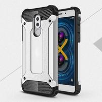 Defender odolný obal na mobil Honor 6x - stříbrný