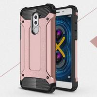 Defender odolný obal na mobil Honor 6x - růžovozlatý
