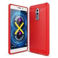 Odolný gelový obal s výstuhami na mobil Honor 6x - červený