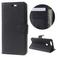 Clothy peněženkové pouzdro na mobil Honor 8 - černé