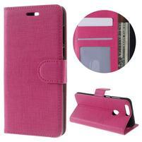 Clothy peněženkové pouzdro na mobil Honor 8 - rose