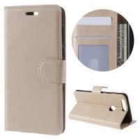 Clothy peněženkové pouzdro na mobil Honor 8 - zlaté