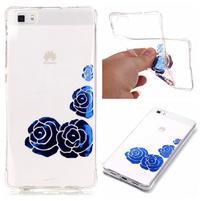 Lacque pružný gelový obal na Huawei P8 Lite - modré růže