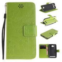 Dandelion PU kožené pouzdro na mobil Huawei Y3 II - zelené