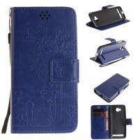 Dandelion PU kožené pouzdro na mobil Huawei Y3 II - modré