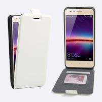 Flipové PU kožené pouzdro na Huawei Y3 II - bílé