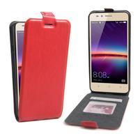 Flipové PU kožené pouzdro na Huawei Y3 II - červené