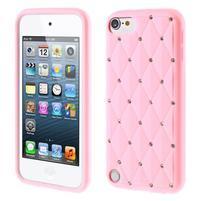 Brite silikonový obal s kamínky iPod Touch 6 / Touch 5 - růžový