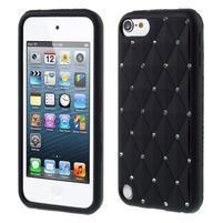 Brite silikonový obal s kamínky iPod Touch 6 / Touch 5 - černý