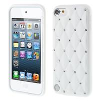 Brite silikonový obal s kamínky iPod Touch 6 / Touch 5 - bílý