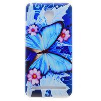 Emotive gelový obal na mobil Lenovo C2 - modrý motýl