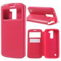 Richi PU kožené pouzdro na mobil LG K8 - rose
