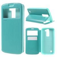 Richi PU kožené pouzdro na mobil LG K8 - azurové