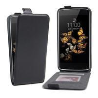 Černé flipové PU kožené pouzdro na LG K8