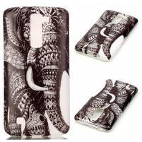 Emotive gelový obal na mobil LG K8 - slon