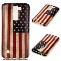 Emotive gelový obal na mobil LG K8 - US vlajka