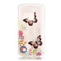 Průhledný gelový obal na telefon LG K8 - motýlek