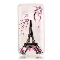 Průhledný gelový obal na telefon LG K8 - Eiffelova věž