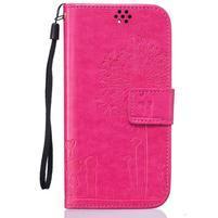 Dandelion PU kožené pouzdro na mobil LG K8 - rose