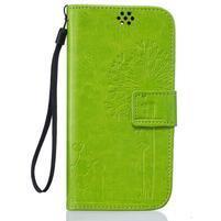 Dandelion PU kožené pouzdro na mobil LG K8 - zelené