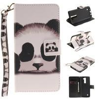 Style PU kožené pouzdro na LG K8 - panda